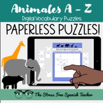 Spanish Digital Puzzles Animales