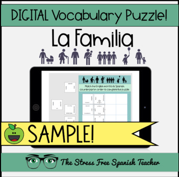 Spanish Digital, Paperless Puzzles La Familia