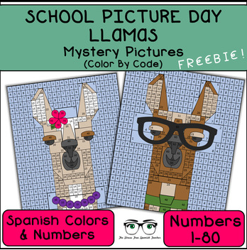 Spanish Color By Number School Picture Day Animals
