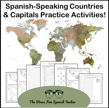 Spanish Speaking Countries and Capitals Practice
