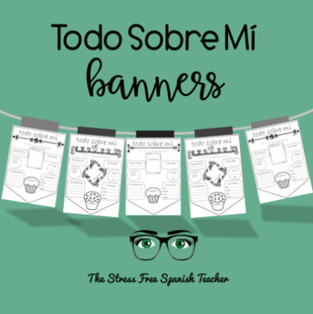 Spanish All About Me Banners
